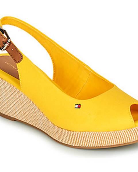 Žlté topánky Tommy Hilfiger