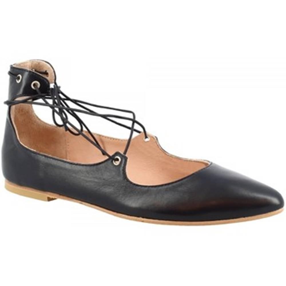 Leonardo Shoes Balerínky/Babies  117-30 NAPPA BLU