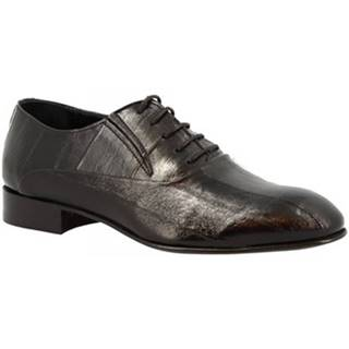Derbie Leonardo Shoes  191U ANGUILLA NERA