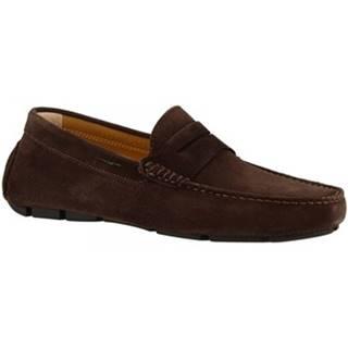Mokasíny Leonardo Shoes  8309 SOFTY TESTA DI MORO