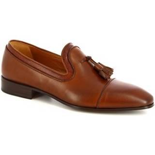 Mokasíny Leonardo Shoes  13605-E F. 136 CUOIO FILETTO TDM