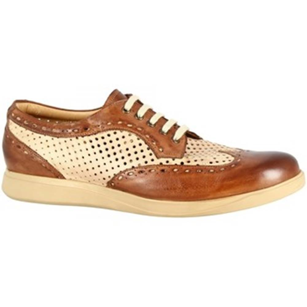 Leonardo Shoes Derbie Leonardo Shoes  7797 TOM CAPRI AV BRANDY BEIGE
