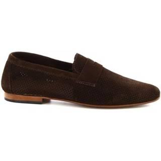 Mokasíny Leonardo Shoes  FD04 CAMOSCIO T. MORO