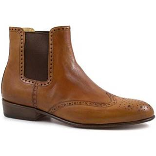 Polokozačky Leonardo Shoes  PINA 044 CUOIO