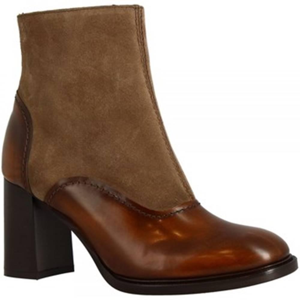 Leonardo Shoes Polokozačky Leonardo Shoes  9801/1  CAM SAFARI