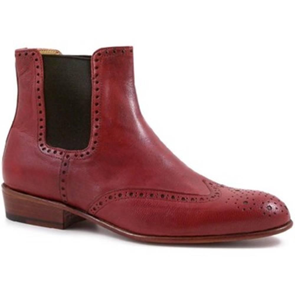 Leonardo Shoes Polokozačky Leonardo Shoes  PINA 044 ROSSO