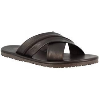 Šľapky Leonardo Shoes  M6160 VITELLO NERO