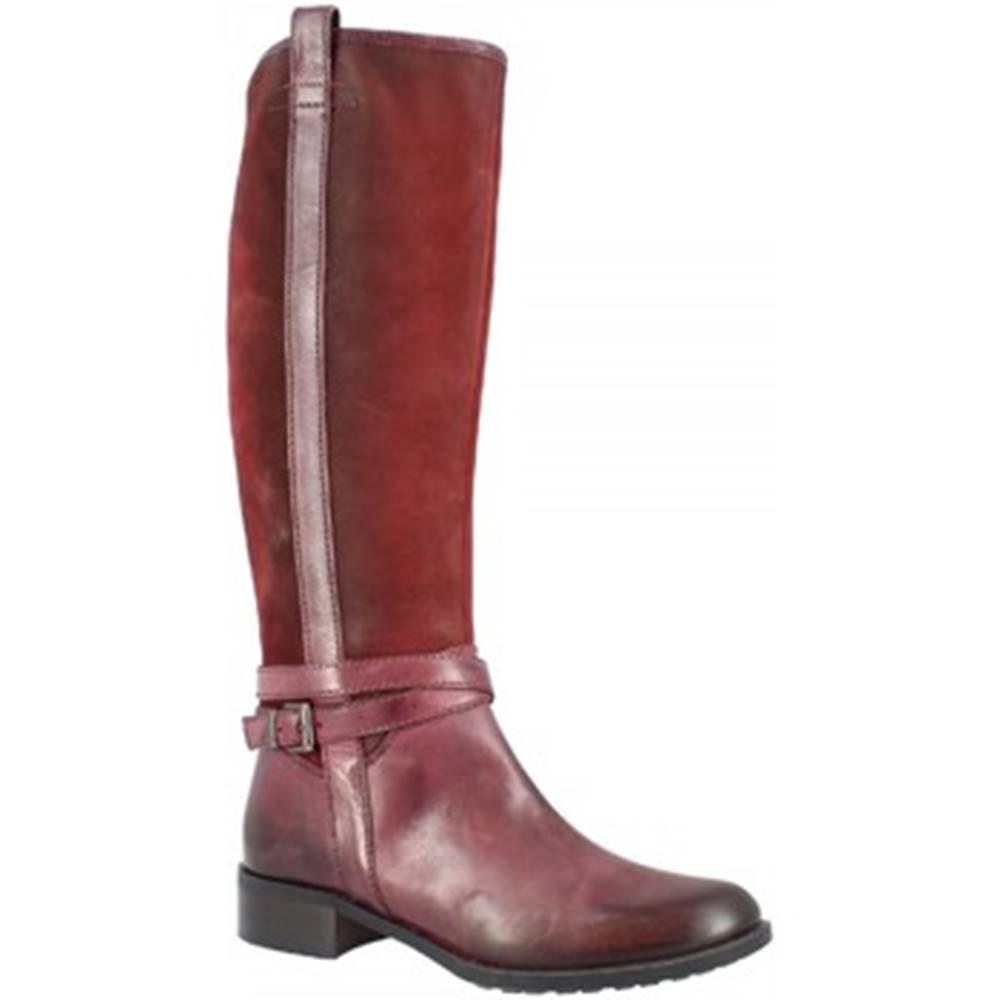 Leonardo Shoes Čižmy do mesta  D078090LI6. AI04 AIR BORDEAUX