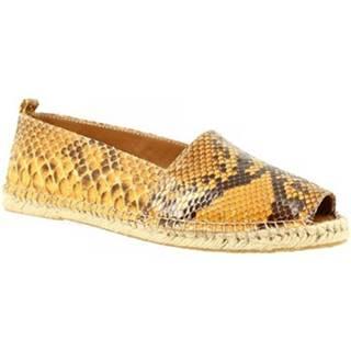 Sandále Leonardo Shoes  3360 ESPA PITONE OCRA