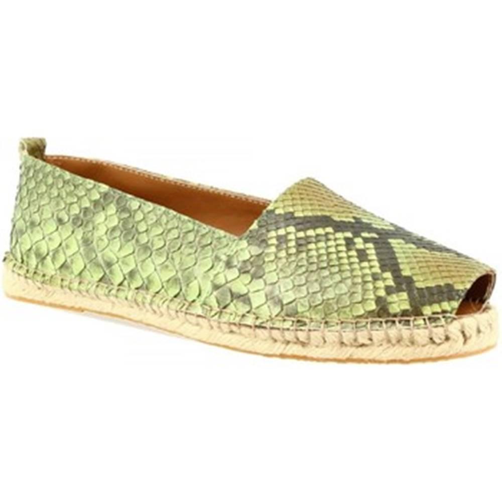 Leonardo Shoes Sandále Leonardo Shoes  3360 ESPA PITONE VERDE
