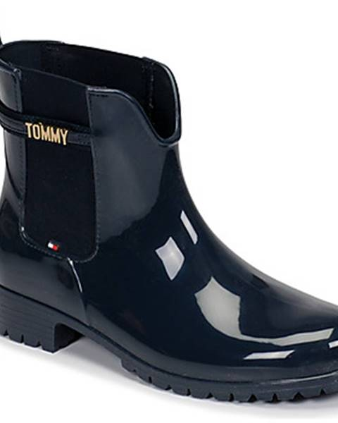 Modré čižmy Tommy Hilfiger