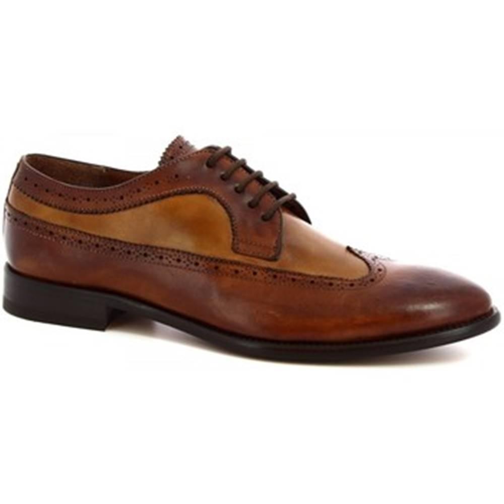 Leonardo Shoes Derbie Leonardo Shoes  7639I18 TOM MONTECARLO DELAVE BRANDY