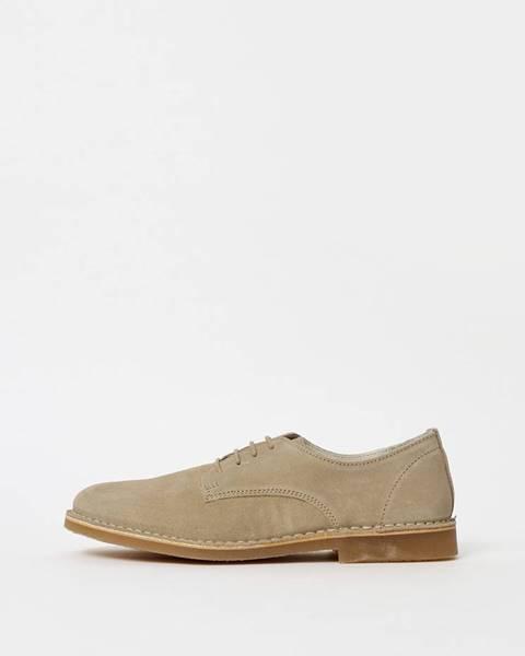 Béžové topánky Selected Homme