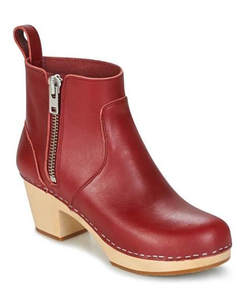 Červené topánky Swedish hasbeens
