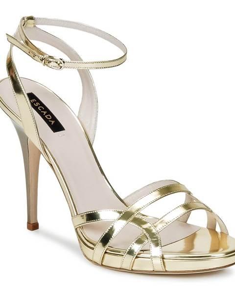 Zlaté sandále Escada