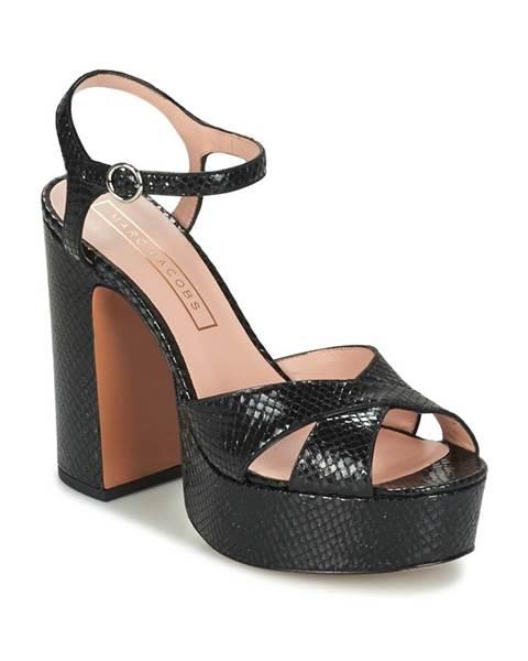 Čierne sandále Marc Jacobs