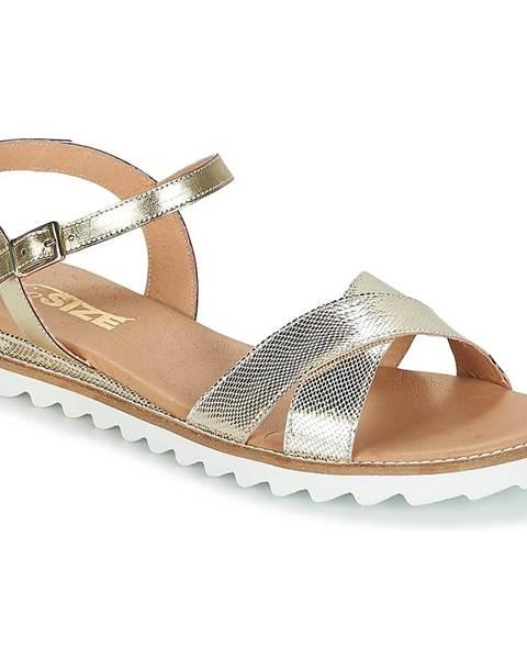 Zlaté sandále So Size