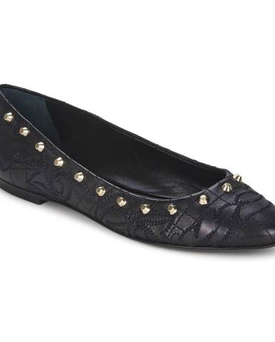 Čierne balerínky Versace
