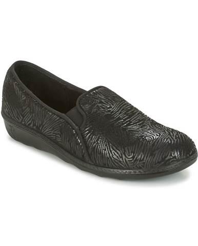 Čierne papuče Romika