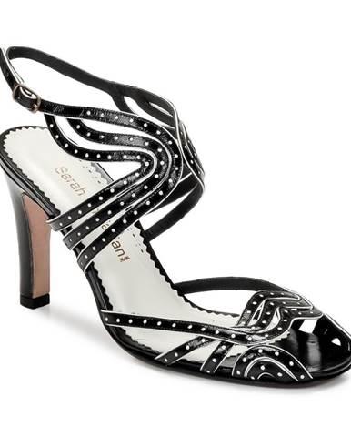 Čierne sandále Sarah Chofakian