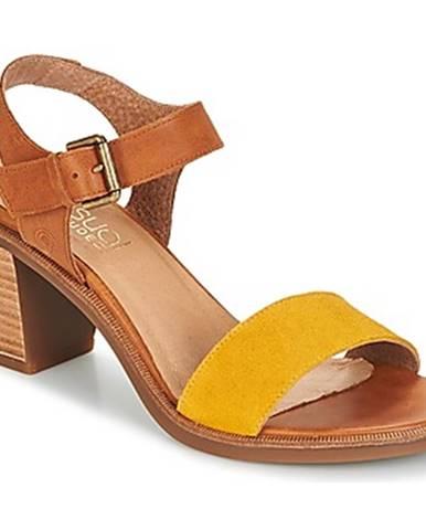 Žlté sandále Casual Attitude