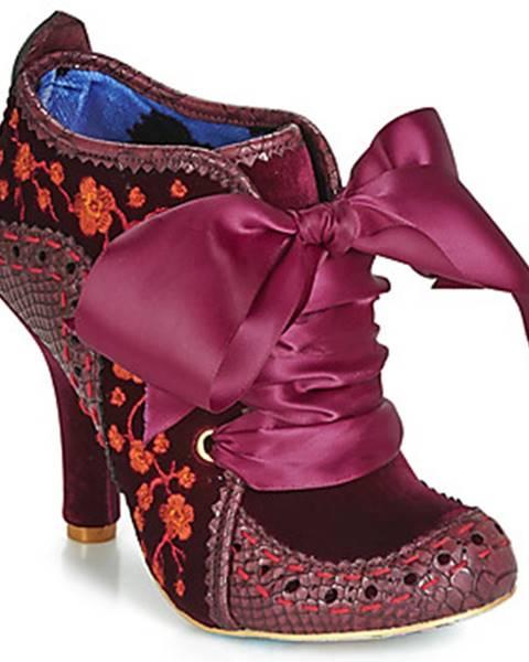 Bordové topánky Irregular Choice