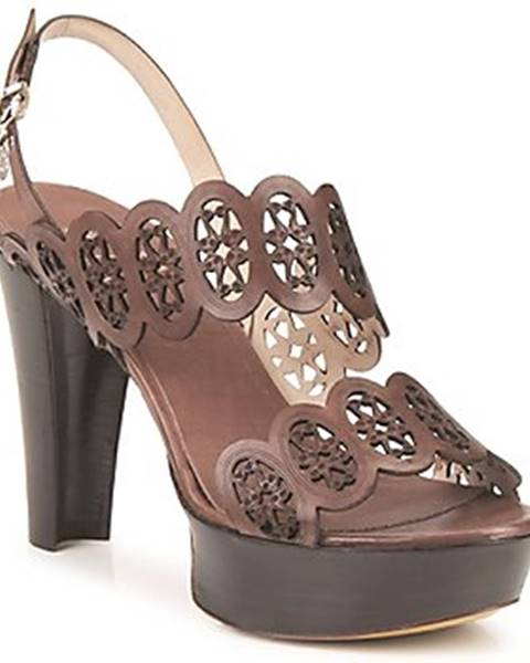 Hnedé sandále Fabi