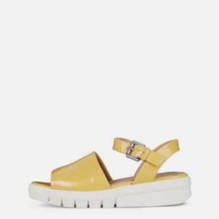 Žlté dámske sandále na platforme Geox Wimbley