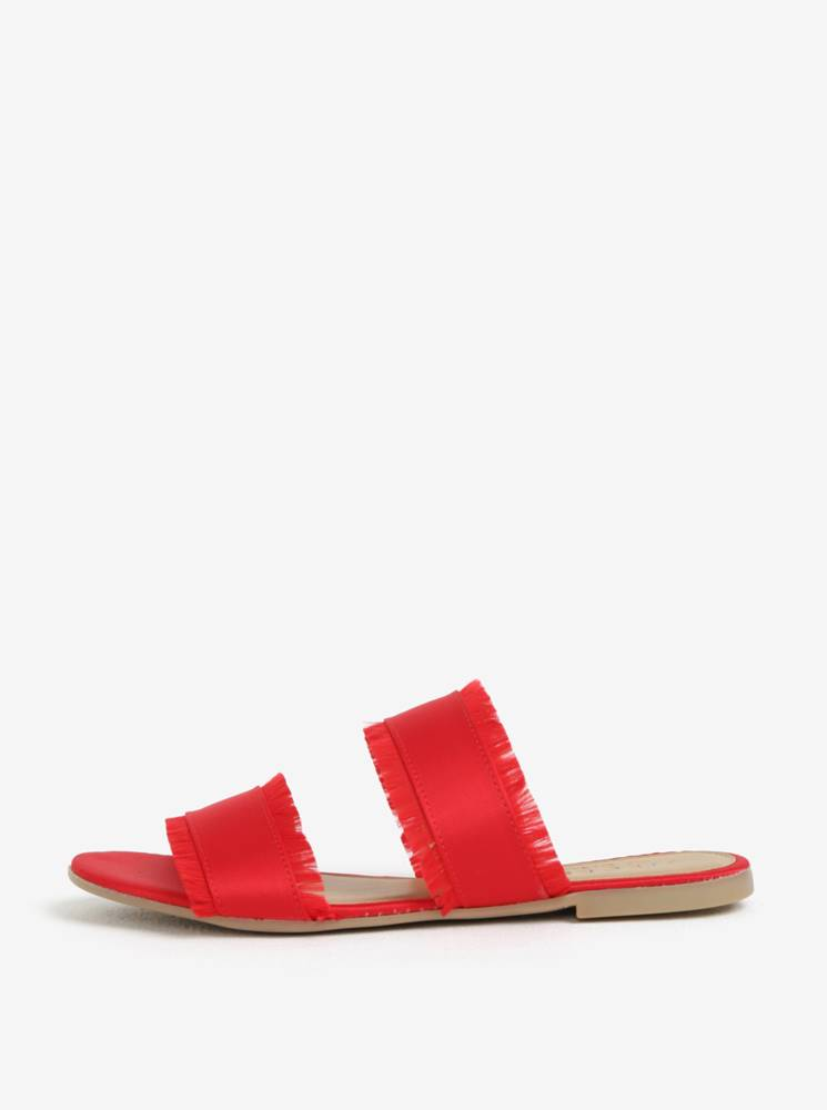Červené šľapky Pieces Mio