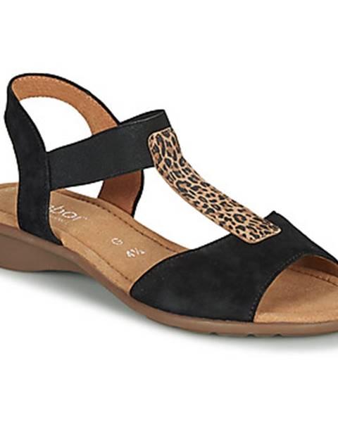 Čierne sandále Gabor