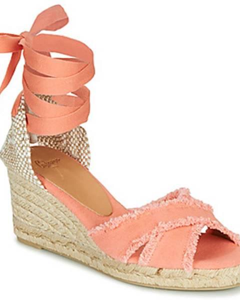 Oranžové sandále Castaner