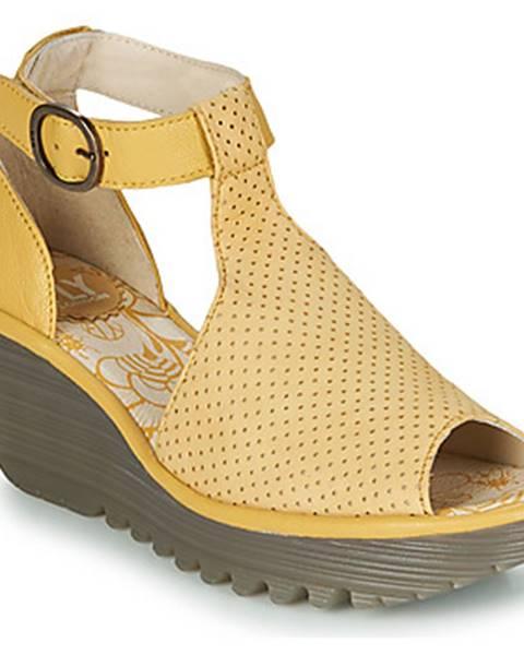 Žlté sandále Fly London