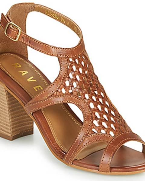 Hnedé sandále Ravel