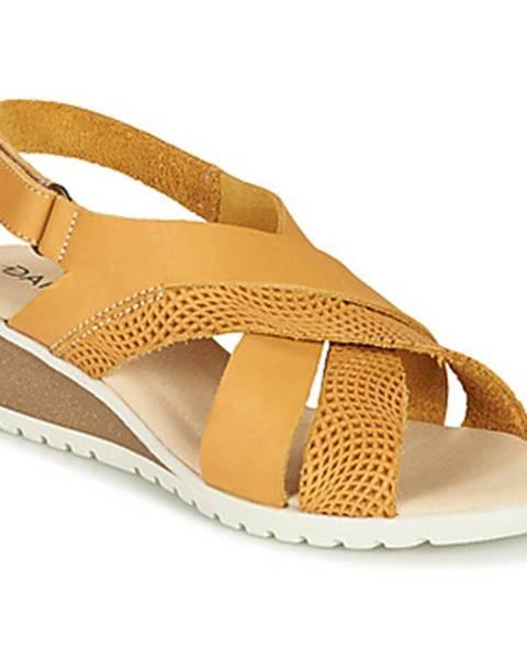 Žlté sandále Damart