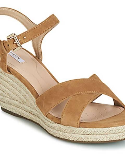 Hnedé sandále Geox
