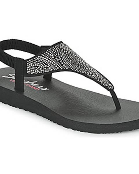Čierne sandále Skechers
