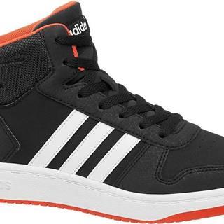 adidas - Čierne členkové tenisky Adidas Hoops Mid 2.0 K