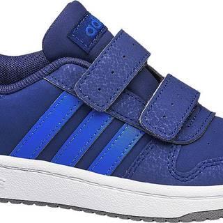adidas - Modré tenisky na suchý zips Adidas Hoops 2.0 CMF C