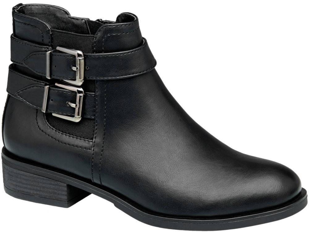 Graceland Čierna Chelsea obuv s prackami Graceland