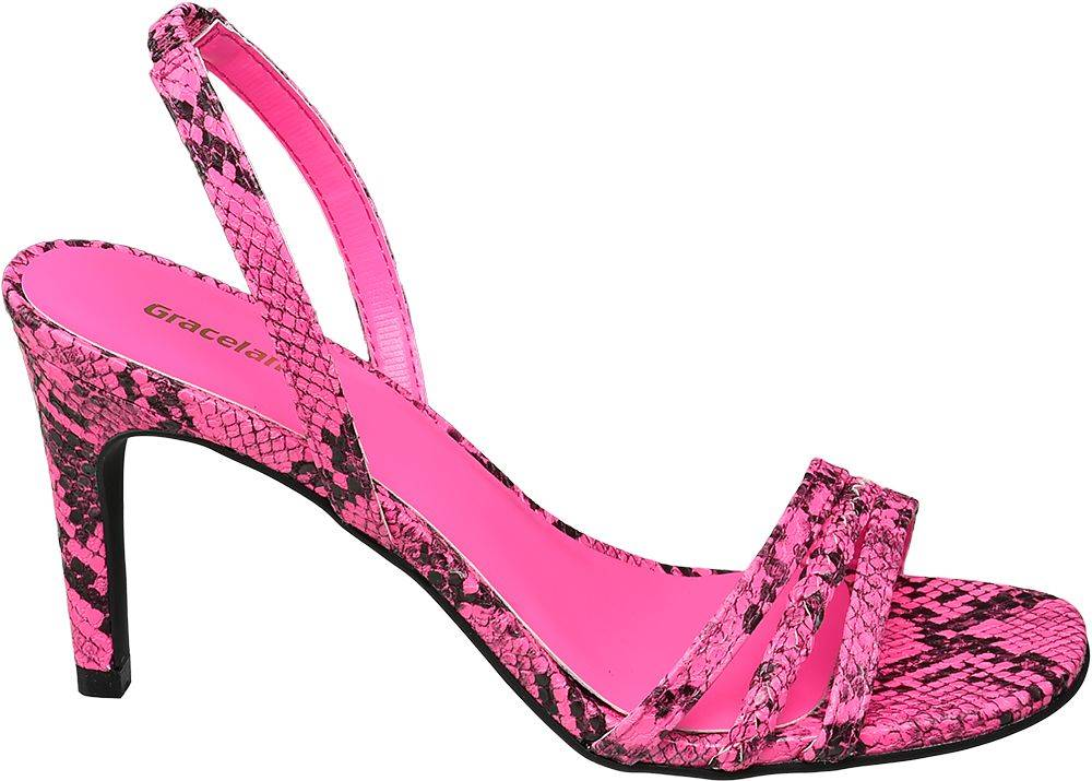Ružové sandále na podpätku ...