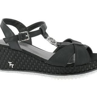 Tom Tailor - Sandále na klinovom podpätku