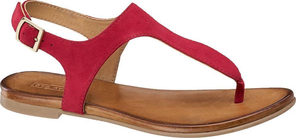 Červené kožené sandále 5th ...