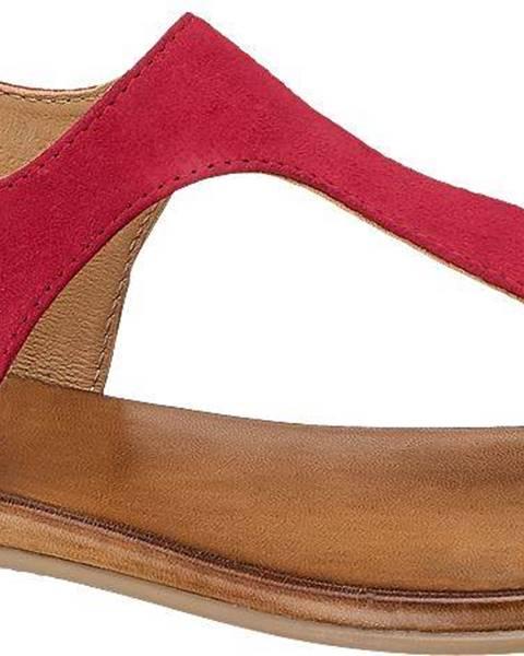Červené sandále 5th Avenue