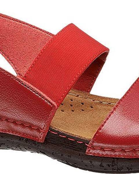 Červené sandále Easy Street