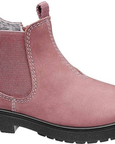 Elefanten - Ružová kožená Chelsea obuv so zipsom Elefanten