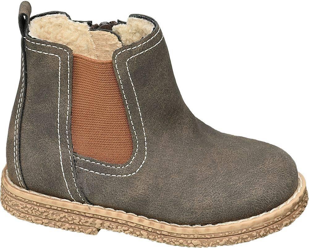 Bobbi-Shoes Bobbi-Shoes - Sivohnedá členková obuv na zips Bobbi Shoes