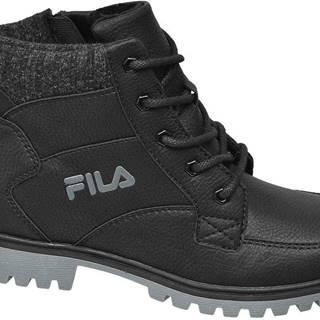 Fila - Čierna členková obuv na zips Fila