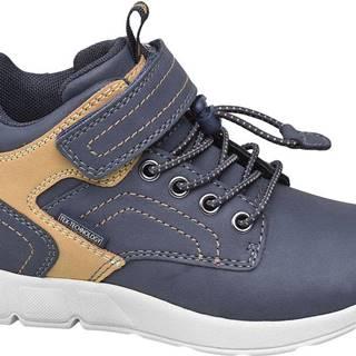 Fila - Modré členkové tenisky na suchý zips Fila s TEX membránou