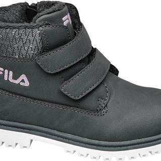 Fila - Sivá členková obuv na zips Fila