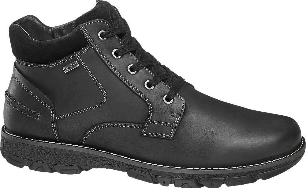 Gallus Čierna kožená komfortná členková obuv s TEX membránou Gallus